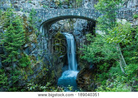 Christine Falls in Mount Rainier NP WA