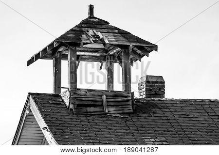 Weathered Schoolhouse taken along HWY 2 Washington State