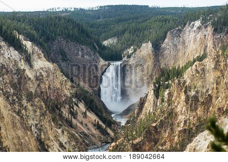 Lower Falls on the Yellowstone River - Yellowstone NP, WY
