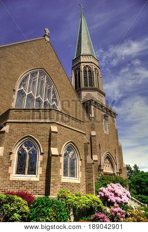 Gothic Church in Downtown Bellingham, Washington State
