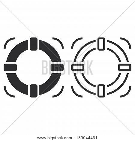 Lifebuoy Line Icon, Help Outline And Solid Vector Sign, Linear And Full Pictogram Isolated On White,