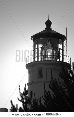 Yaquina Head Lighthouse located on the Central Oregon Coast