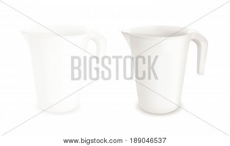 White and gray vector plastic jug. eps 10