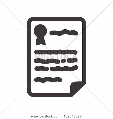 postcard in the paper text to message, vector illustration