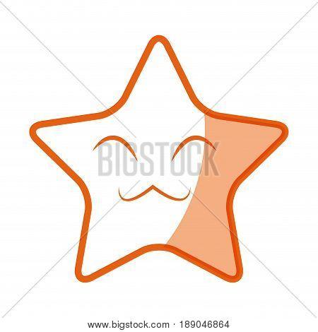 kawaii star funny character emoticon image vector illustration