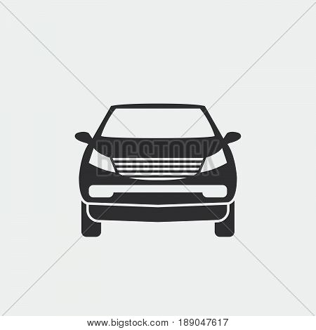crossover suv icon vector isolated on grey .