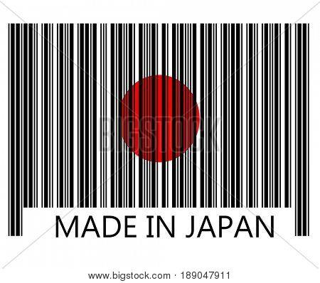 Made in japan in bar code
