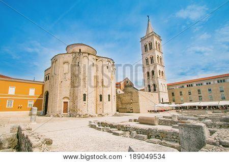 Saint Donatus (Sveti Donat) church in Zadar, Dalmatia, Croatia