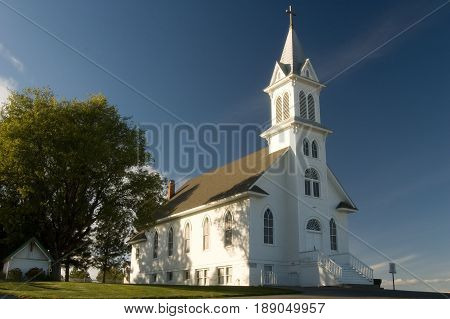 Beautiful vintage church in Palouse region of Washington State