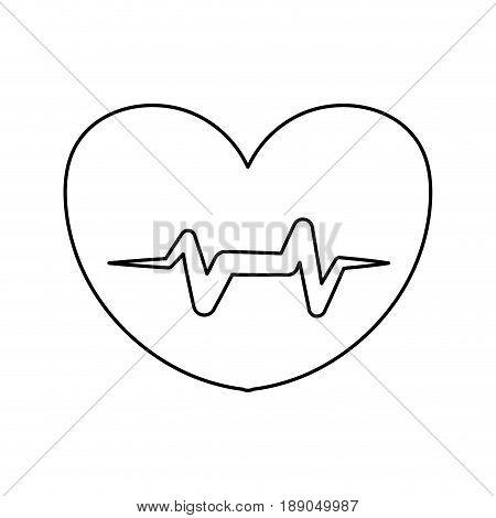 line heartbeat sign of cardiac rhythm frequency vector illustration