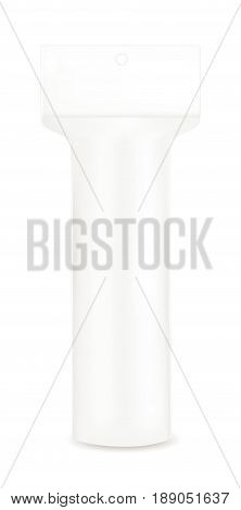 White cotton pads package. vector mock up