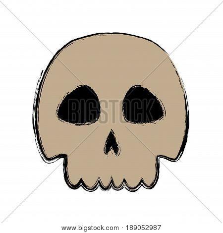 skull danger and caution alert vector illustration