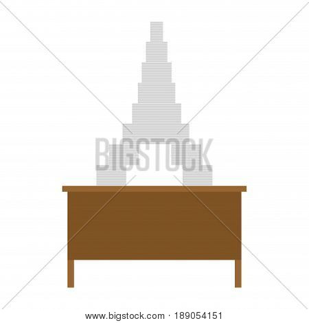 Working Table And Pile Of Papers. Eiffel Tower From Documents. Dream Vacation. Office Life. Lot Of P
