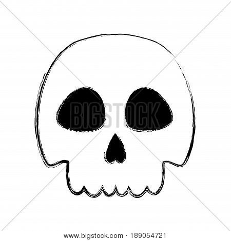 figure skull danger and caution alert vector illustration