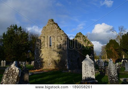 Ruin remains of the Adare Franciscan Friary.