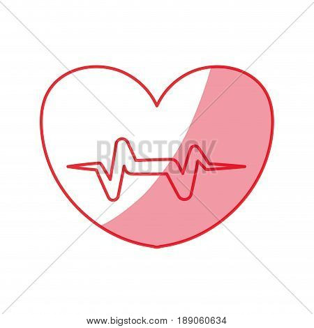 silhouette heartbeat sign of cardiac rhythm frequency vector illustration