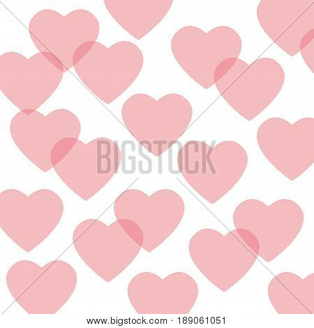 seamless pattern featuring repeating hearts romantic texture vector illustration
