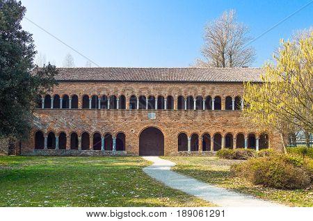 Italy Codigoro the hospice of the Pomposa Abbey of the XIV century