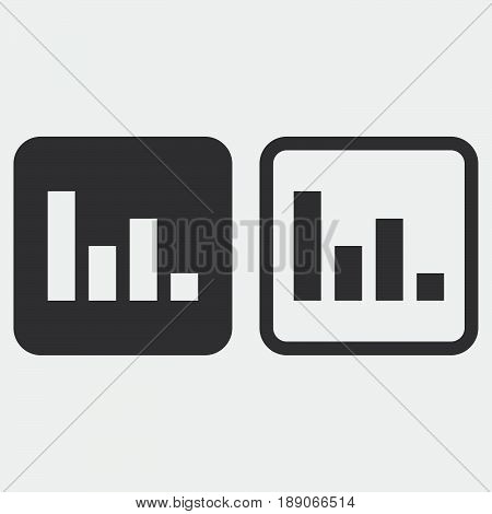 Poll icon solid and outline isolated on grey