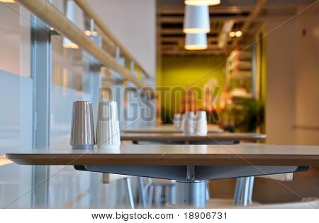 The corner of restaurant