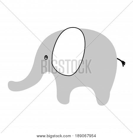cute elephant isolated icon vector illustration design