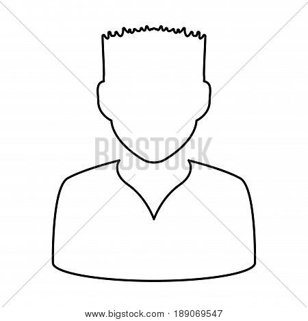 avatar men anonymous vector illustration graphic design icon
