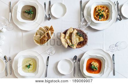different kinds of soup