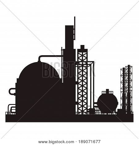 industry factory building vector icon ilustration plant