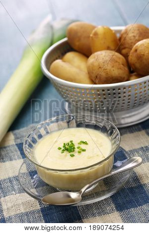 vichyssoise, cold potato soup, american summer cuisine
