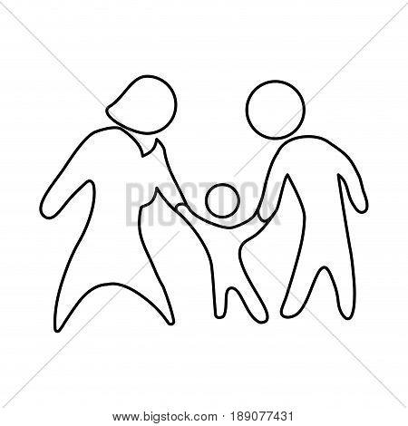 Family pictogram symbol icon vector illustration graphic design