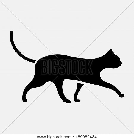 icon black cat icon cat cat image a cat on a white background fully editable vector Vector