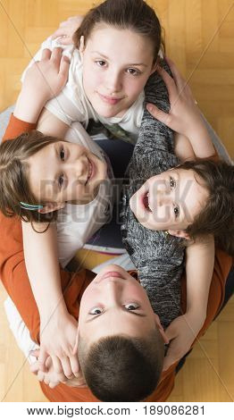 Beautiful children's faces with a smile