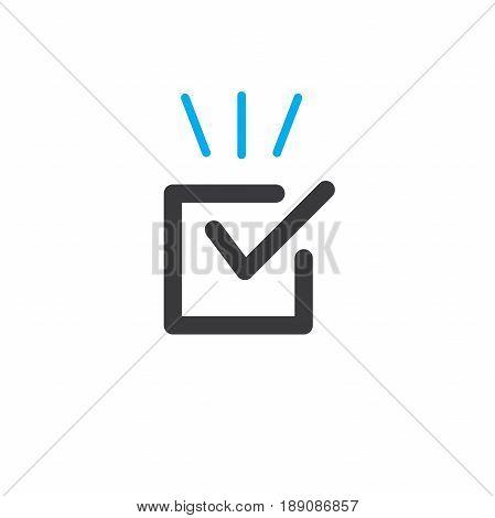 Singletasking or Monotasking icon with a checkmark