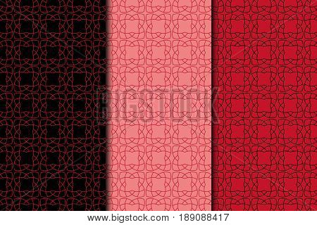 Arabic ornaments. Red vintage seamless pattern for textile and wallpaper. ector illustration