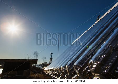 Solar collector. Alternative source of clean energy