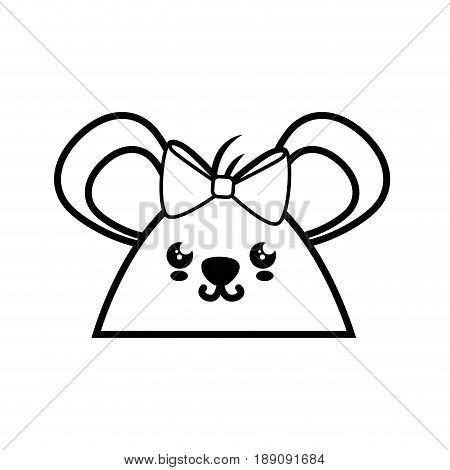 Hamster kawaii cartoon icon vector illustration graphic design