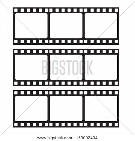 Filmstrip icon vector isolated on white background