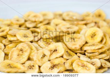 Dried banana slices