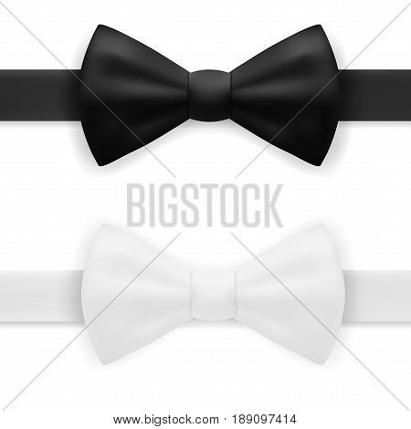 Black And White Bow Tie. EPS10 Vector