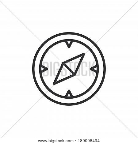 Compass navigation line icon outline vector sign linear style pictogram isolated on white. Symbol logo illustration. Editable stroke. Pixel perfect