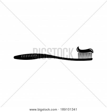 icon toothbrush and toothpaste cleanliness teeth oral hygiene teeth fully editable vector image