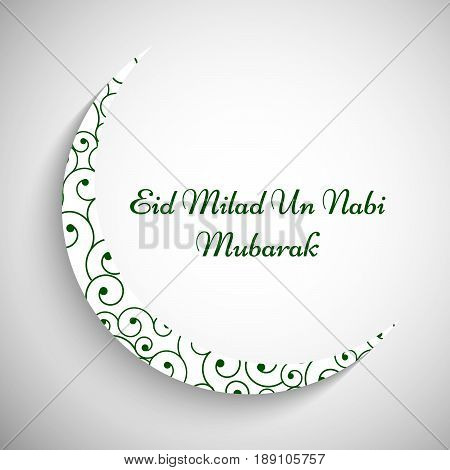 illustration of moon with Eid Milad Un nabi Mubarak text