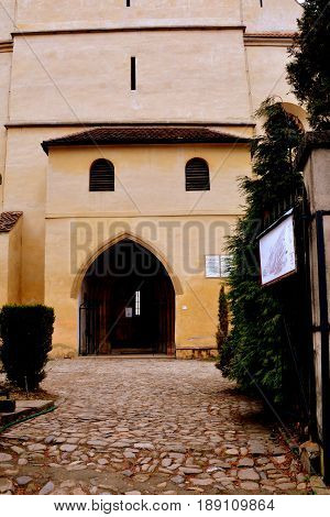 Old medieval saxon lutheran church in Sighisoara, Transylvania, Romania