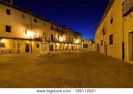Square of El Burgo de Osma Soria province Castilla-Leon Spain