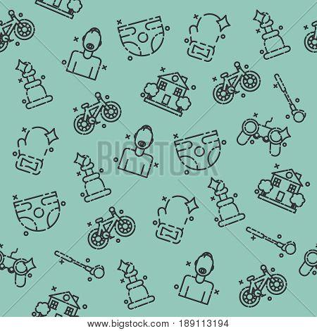Fatherhood icons set pattern. Vector illustration, EPS 10