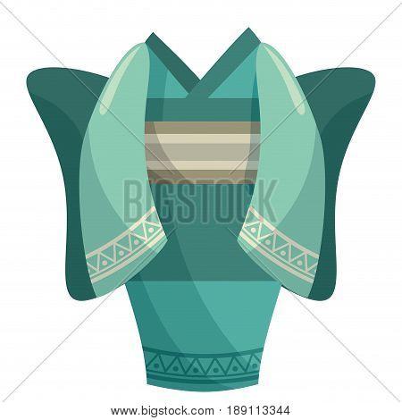Japanese kimono dress cartoon icon vector illustration graphic design