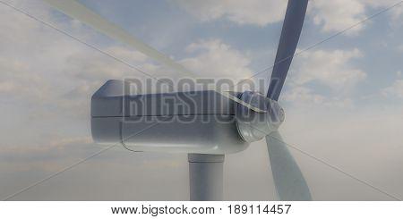 3d illustration of a wind turbine motor