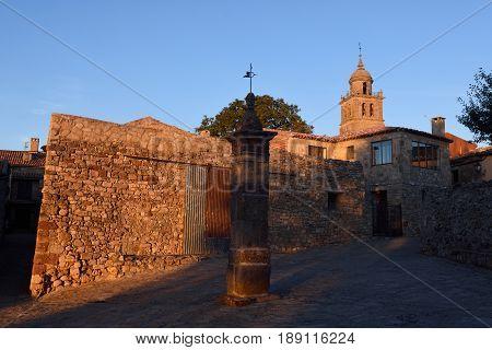 Sunset Of Collegiate Church Of Santa Maria, Medinaceli, Soria Province, Spain