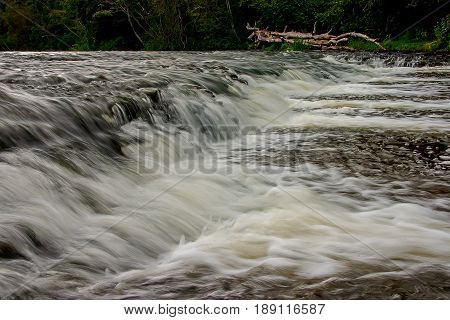 The second Latvian widest waterfall. Abava waterfall