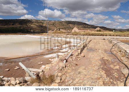 Saltworks of Imon Siguenza Guadalajara province Castilla la Mancha Spain